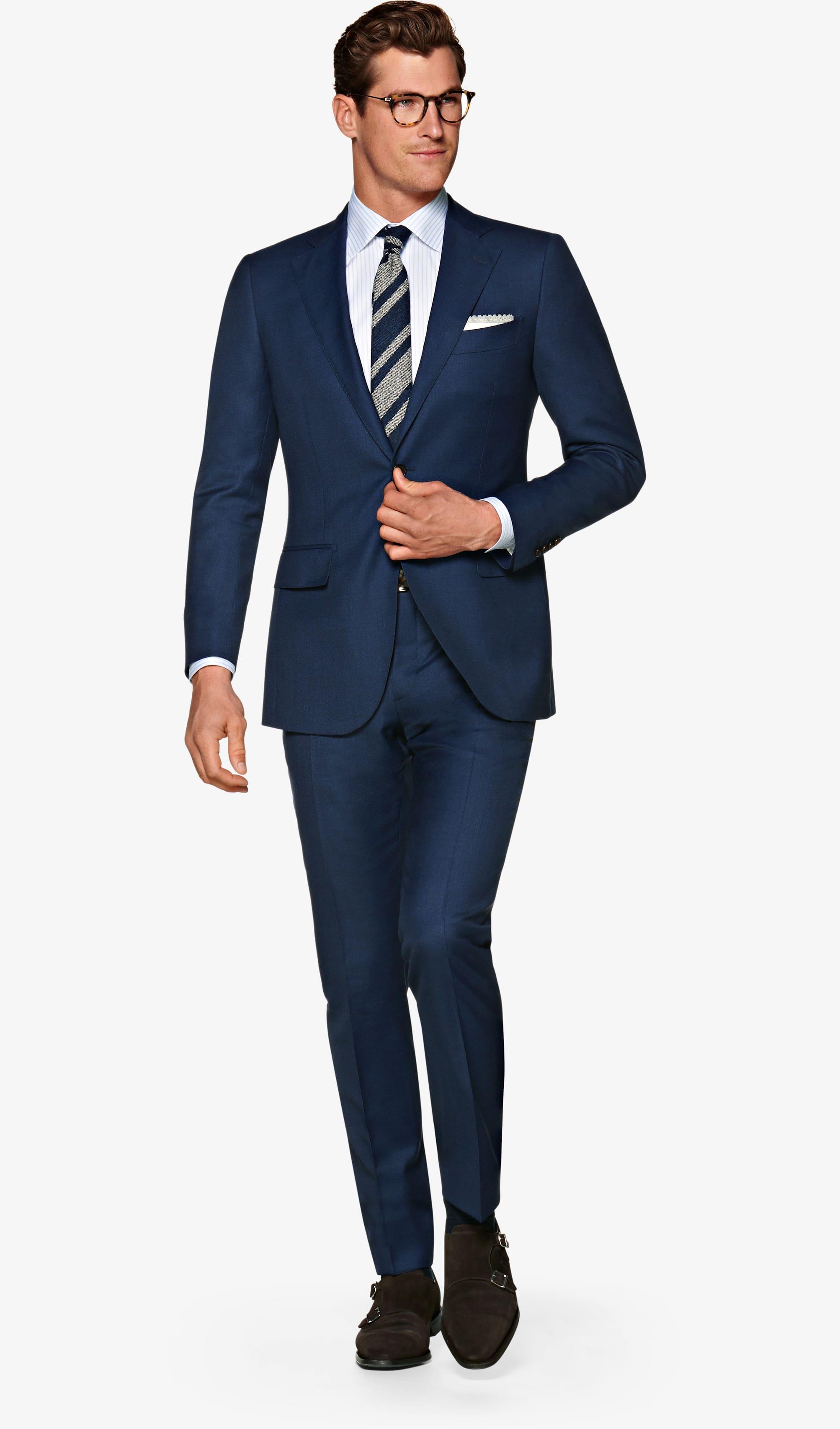 8d5378ac26b65 Suit Navy Plain Lazio P5518. Video. Lazio Navy Suit Pure Wool S120 s