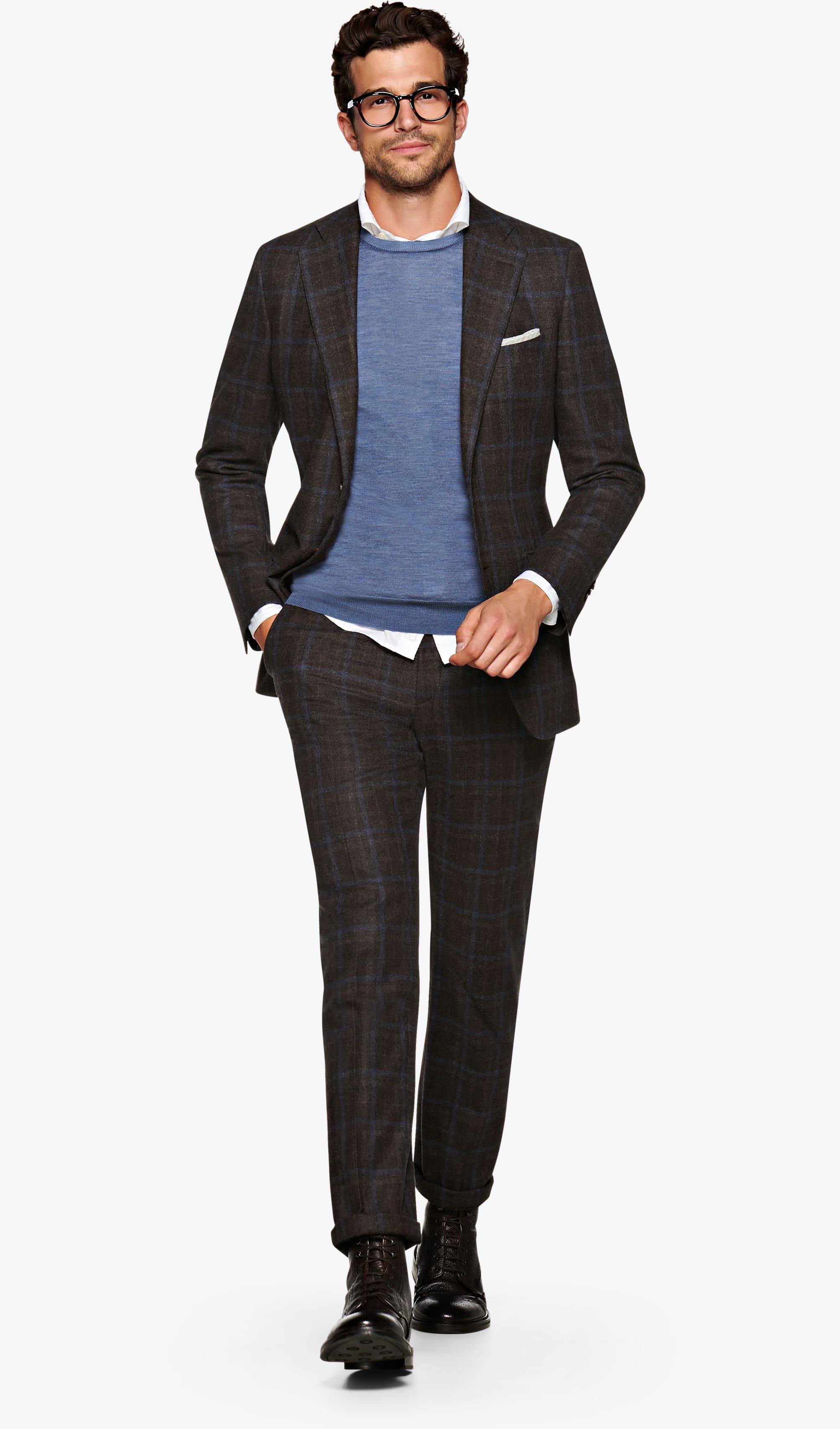 Suit_Brown_Check_Lazio_P5519I
