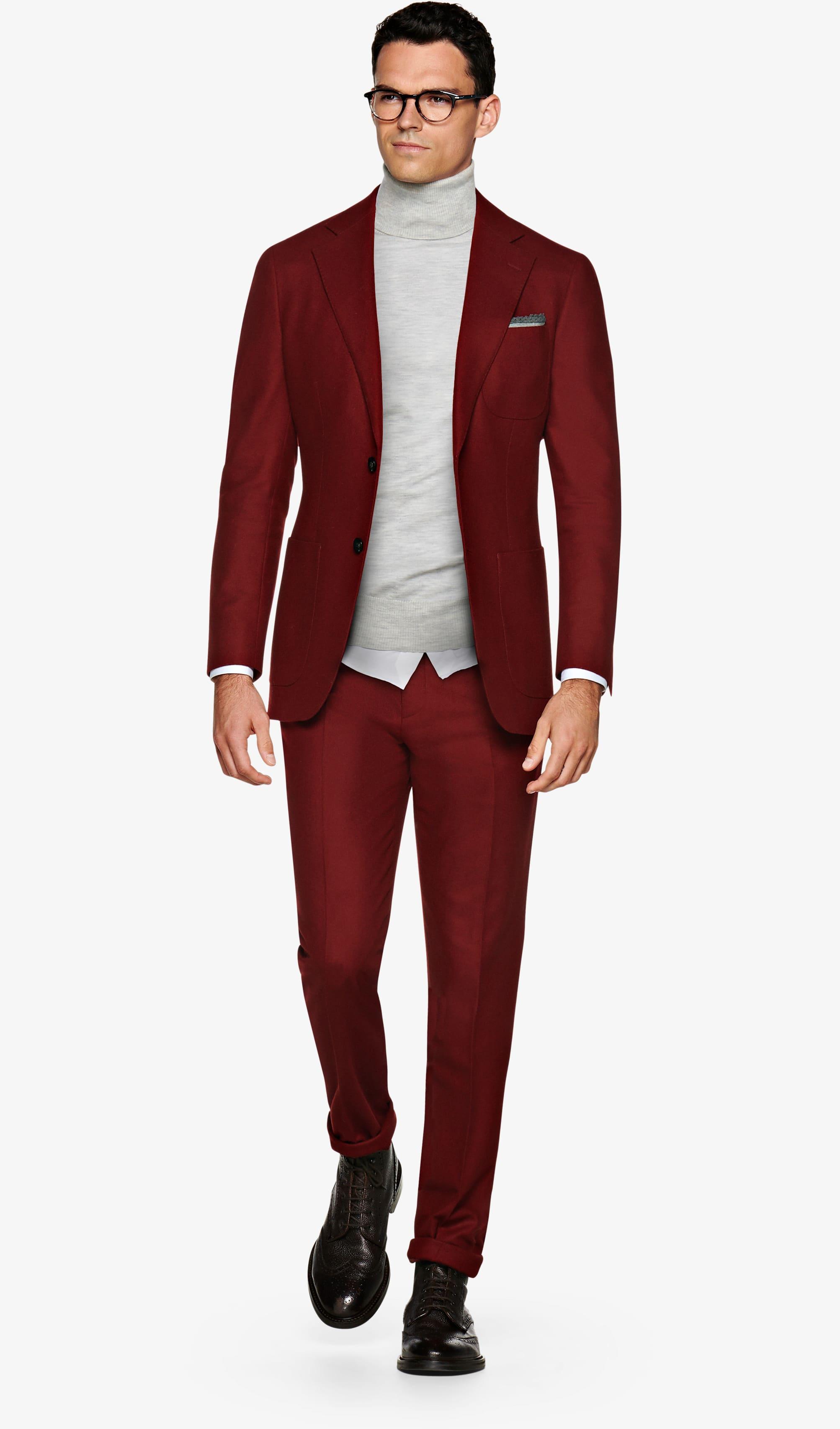 Suit_Red_Plain_Havana_P5607I