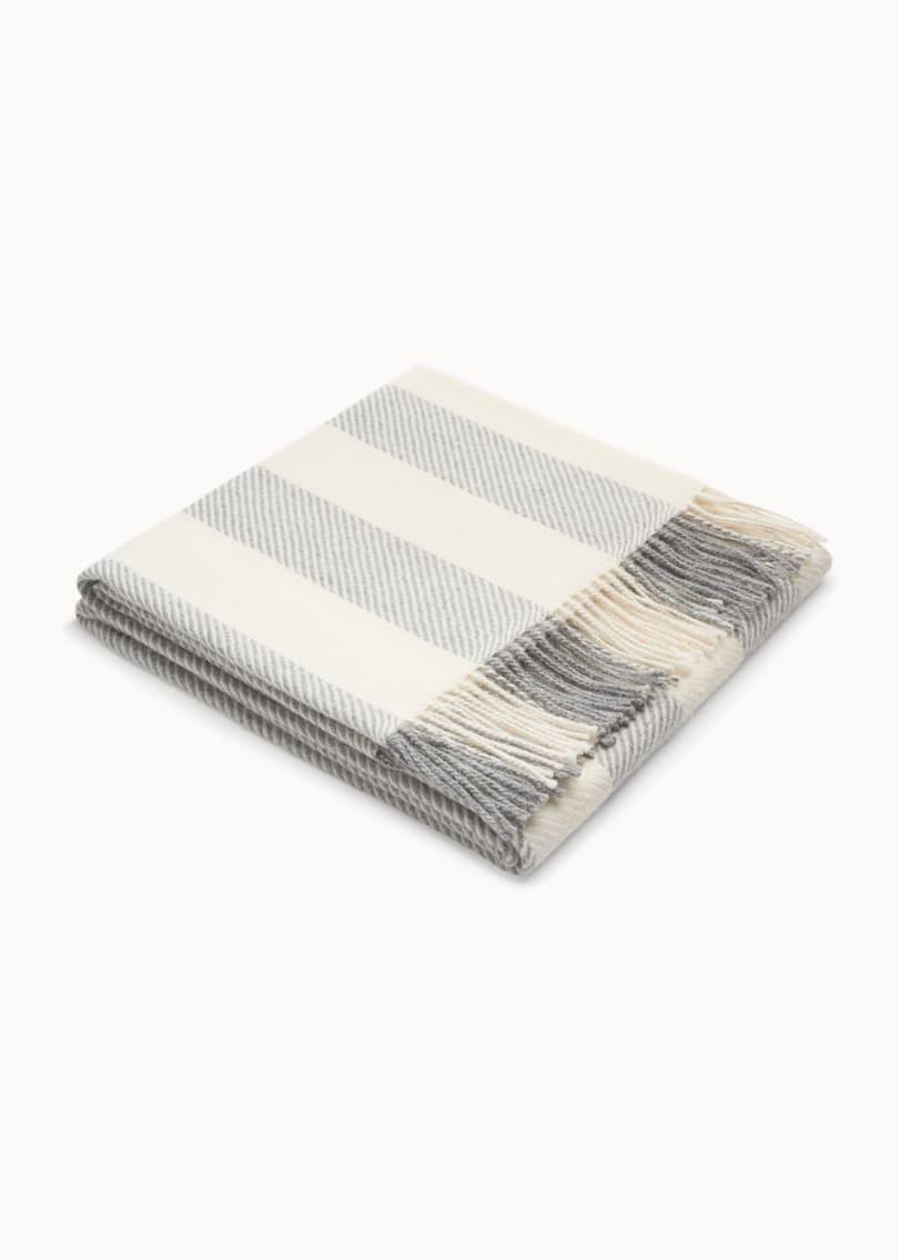 Grey & White Herringbone Scarf