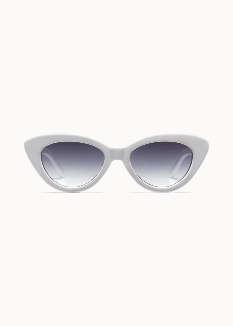 White Cat's Eye Sunglasses