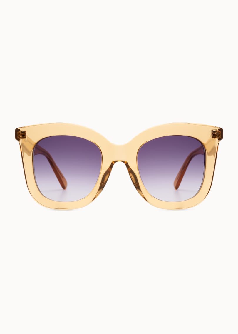 Cognac Square Sunglasses