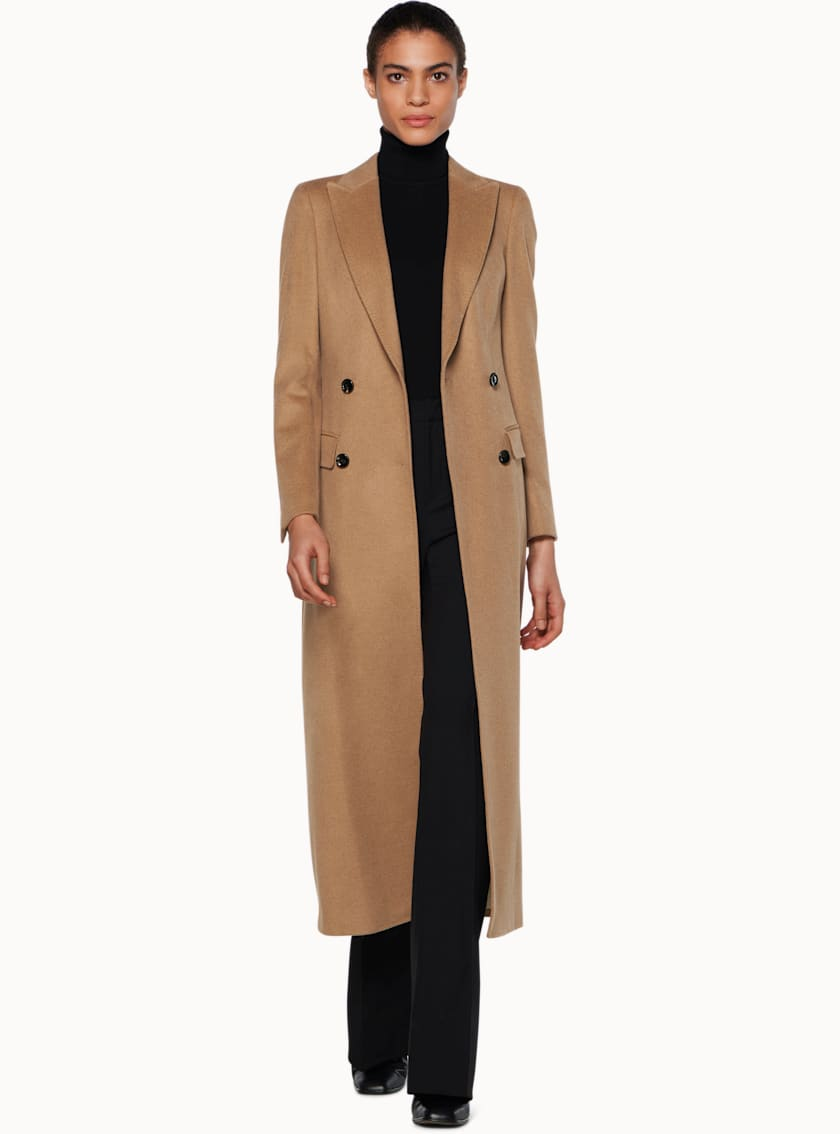 Anna Camel  Double Breasted Coat