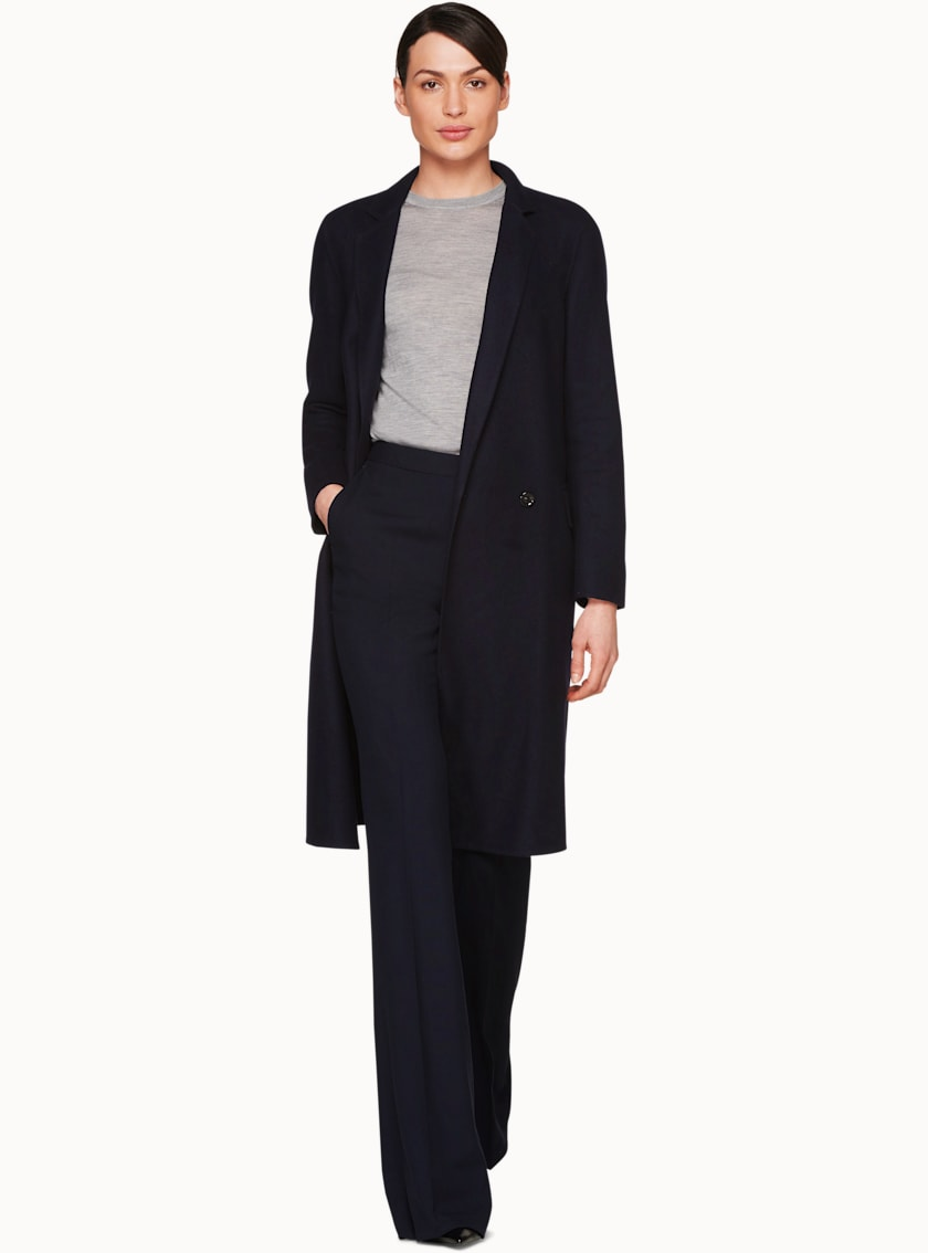 Alia Navy  Overcoat