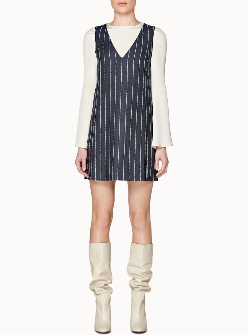 Cedar Navy Striped Dress
