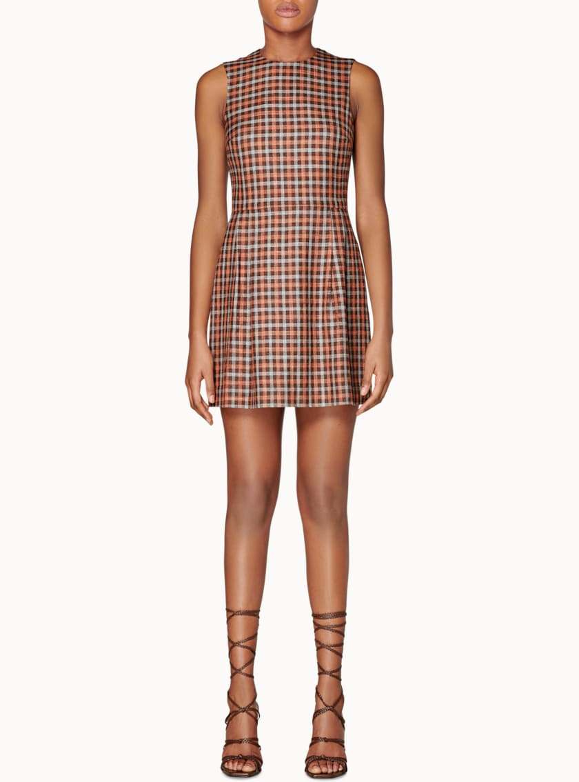 Don Brown Checked Dress
