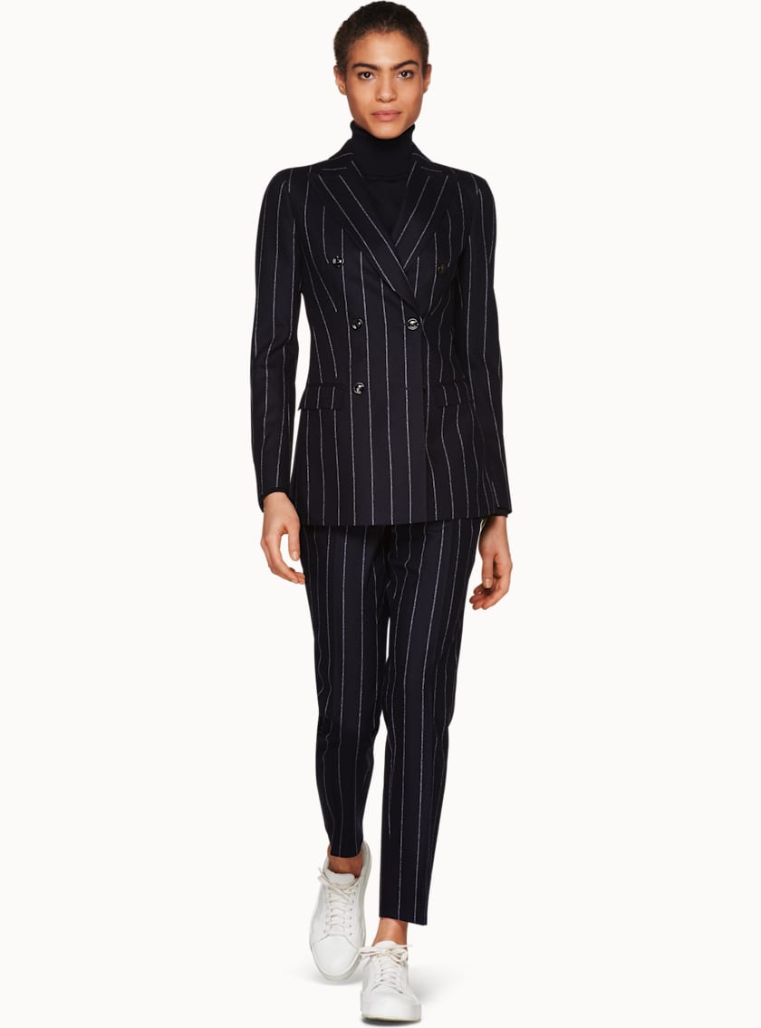 Cameron Navy Chalk Striped Suit
