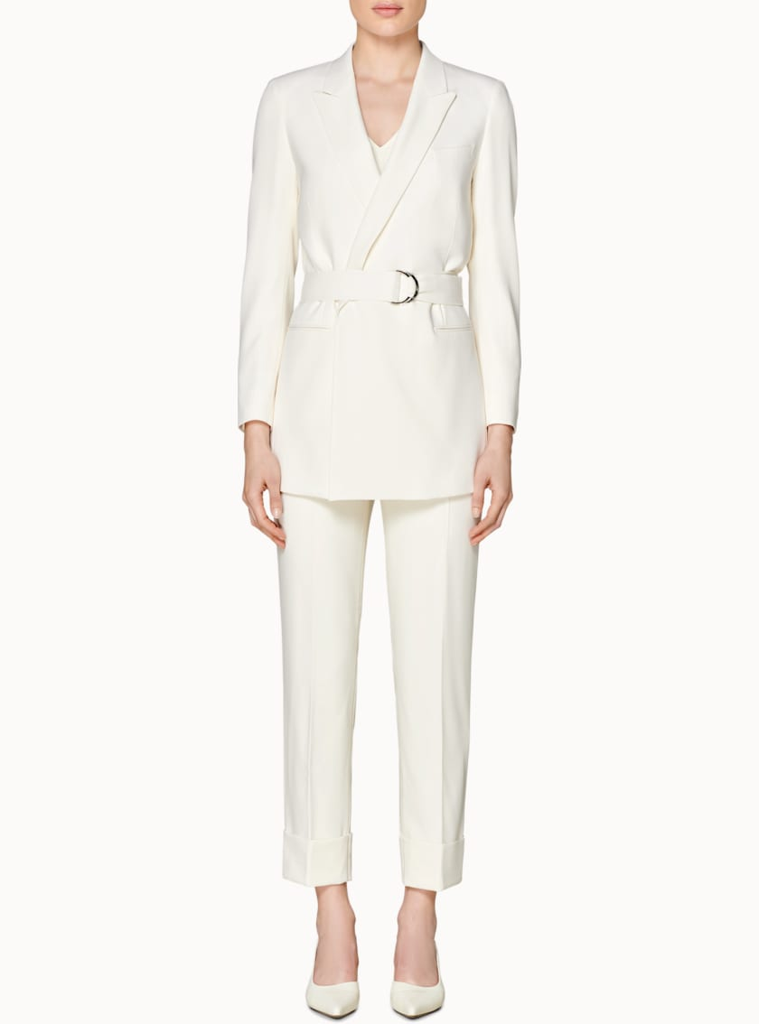 Tory White  Belted Jacket