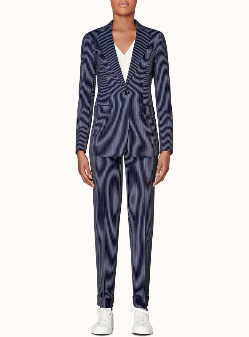 Cameron Navy Striped Suit