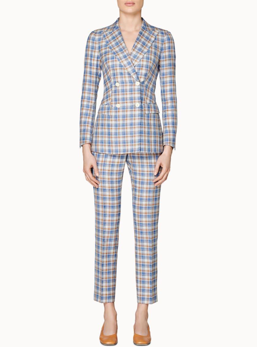 Cameron Blue & Cognac Checked Suit