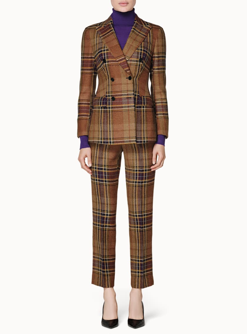 Cameron Brown & Purple Plaid Suit