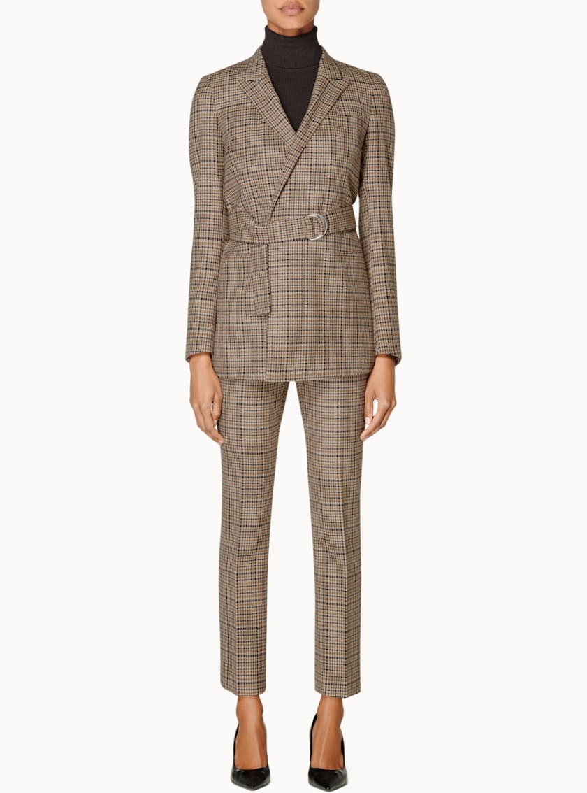 Tory Brown Houndstooth Suit