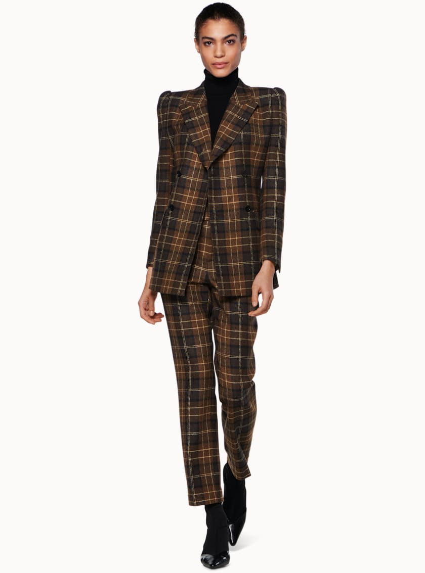 Alex Brown Plaid Suit