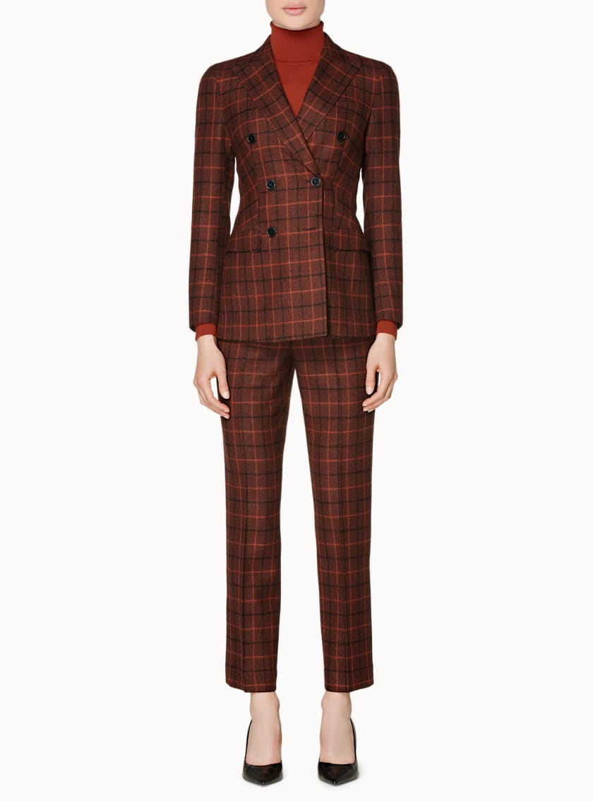 Cameron Sienna Plaid Suit