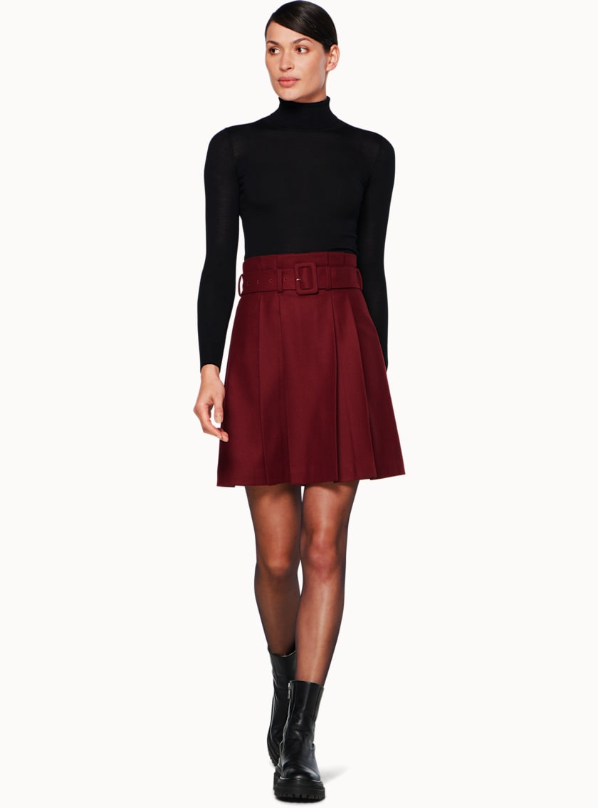Echo Burgundy  Skirt