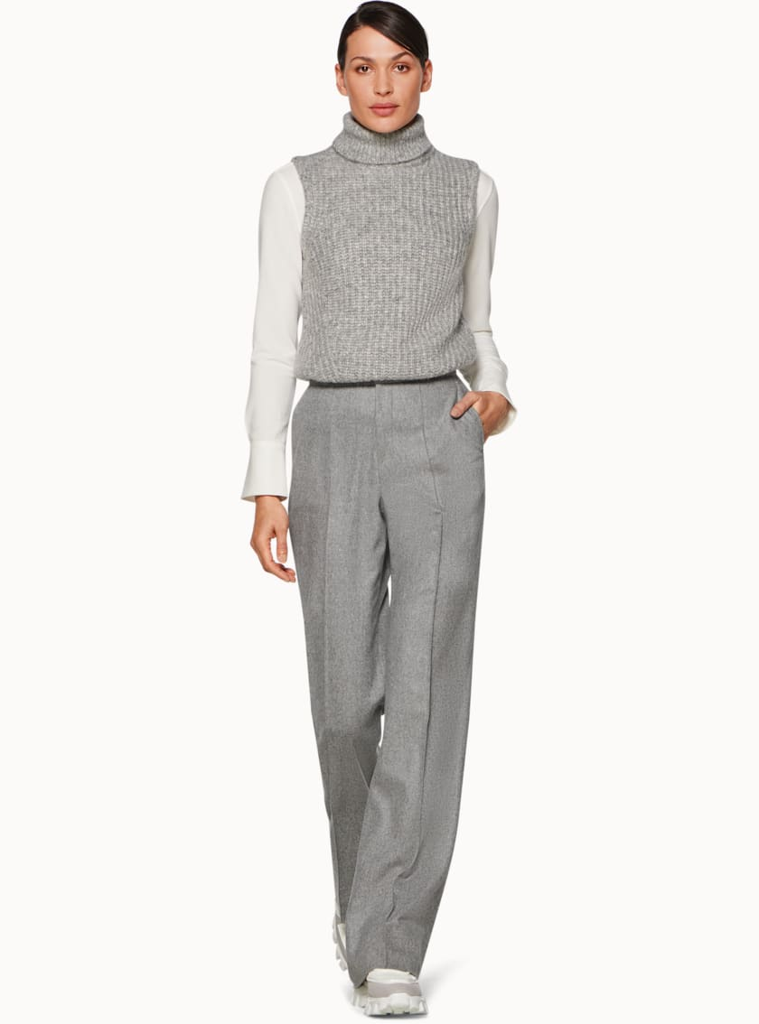 Ally Light Grey  Trousers