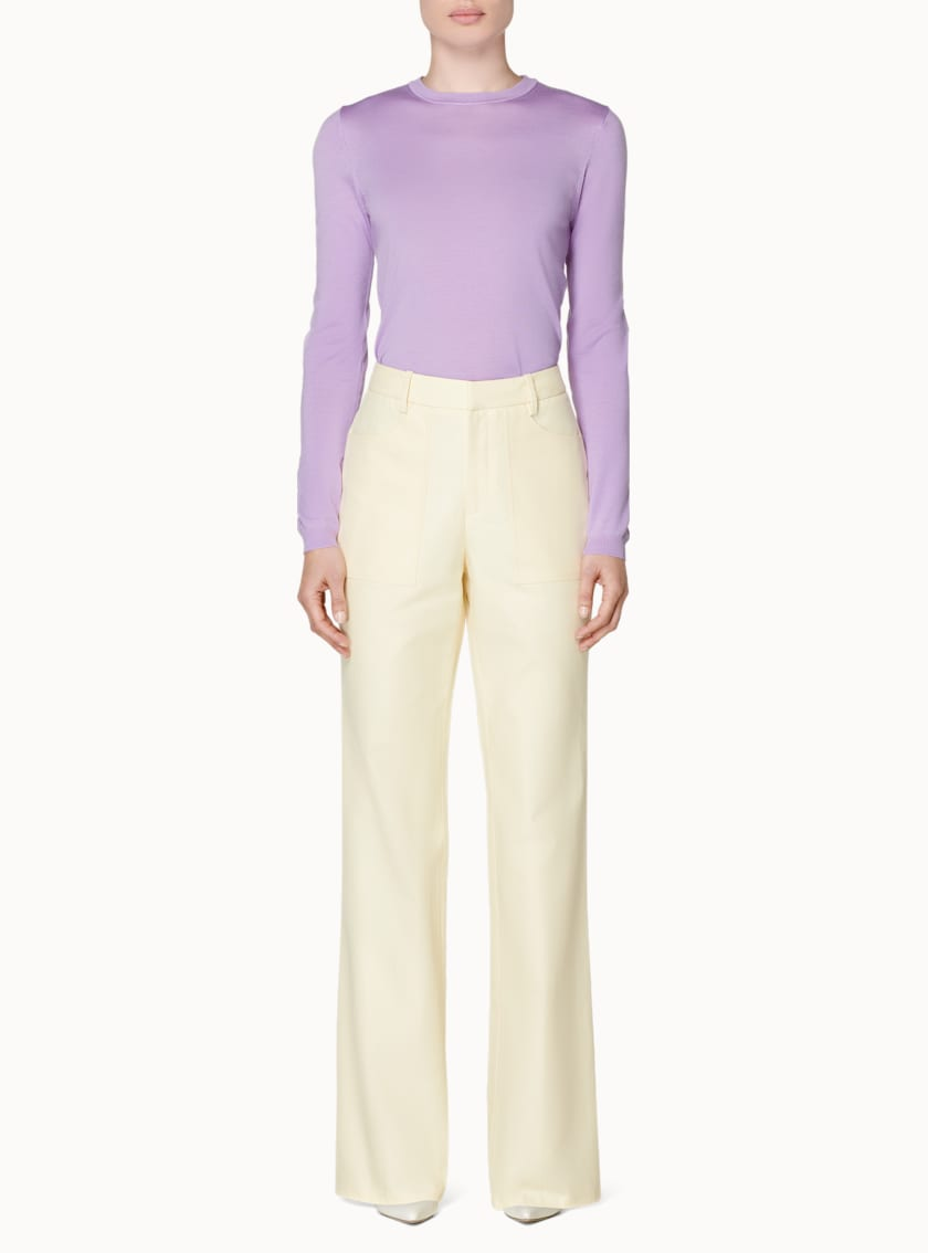 Ally Pale Yellow  Trousers