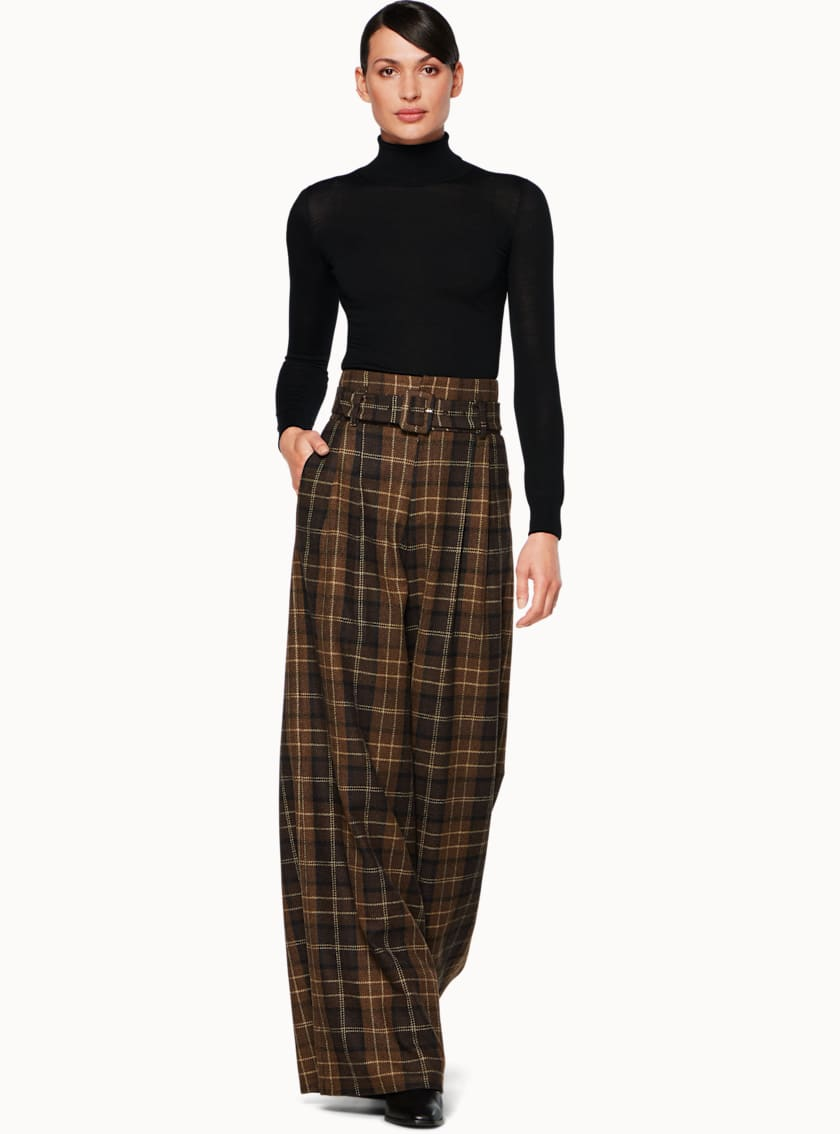 Frankie Brown Plaid Trousers