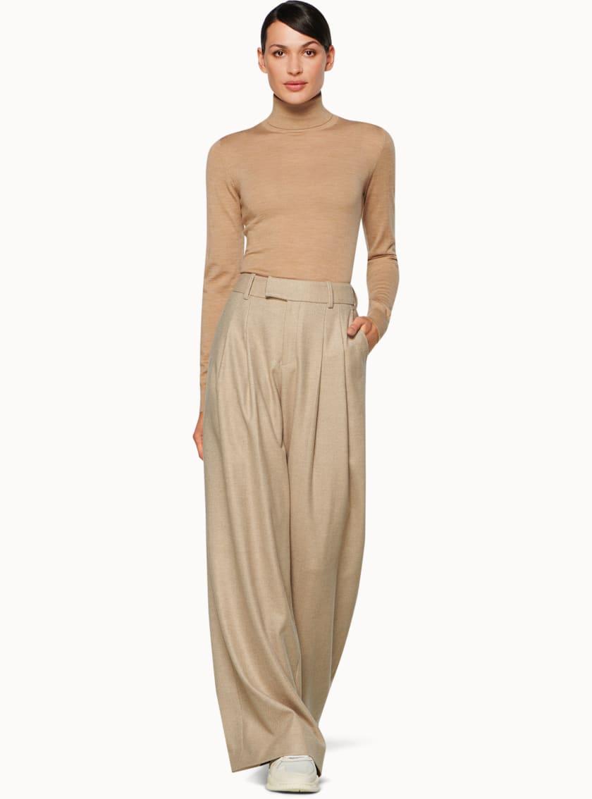 Frankie Light Brown Herringbone Trousers