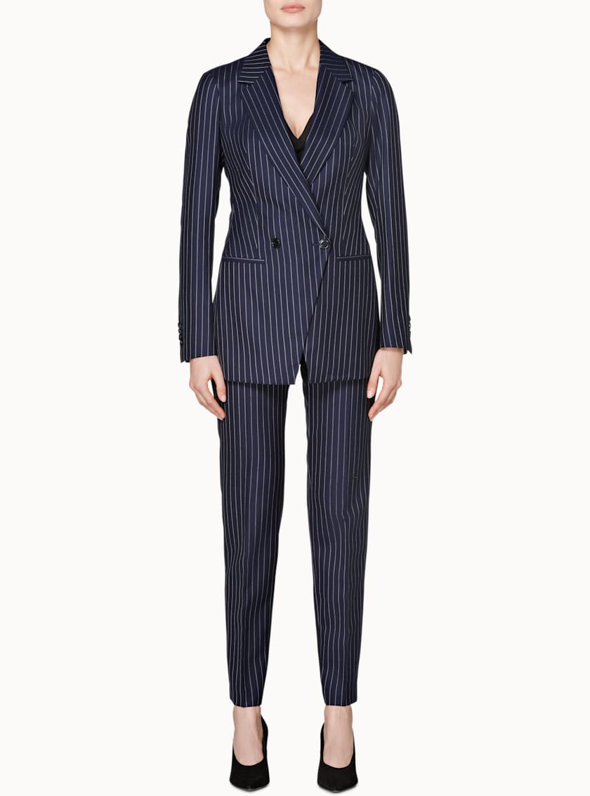 Robin Navy Striped Trousers