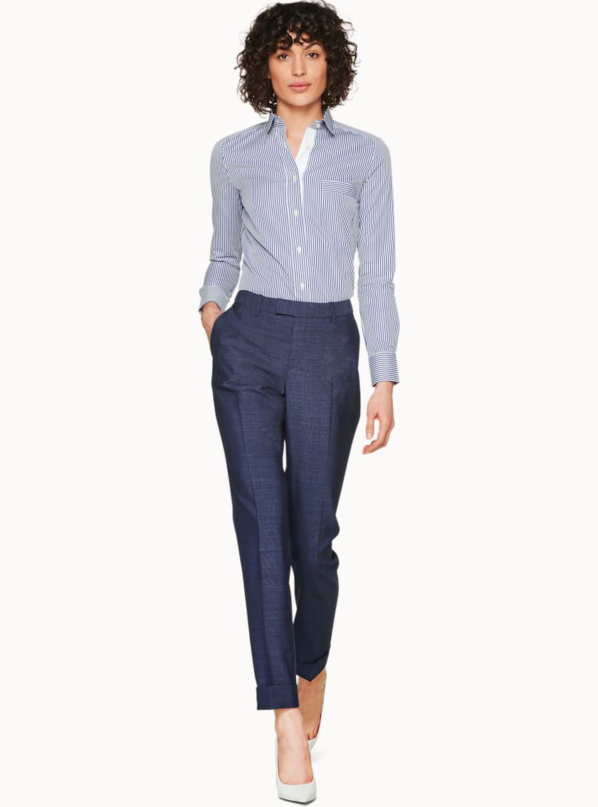 Robin Blue & Grey Melange  Trousers