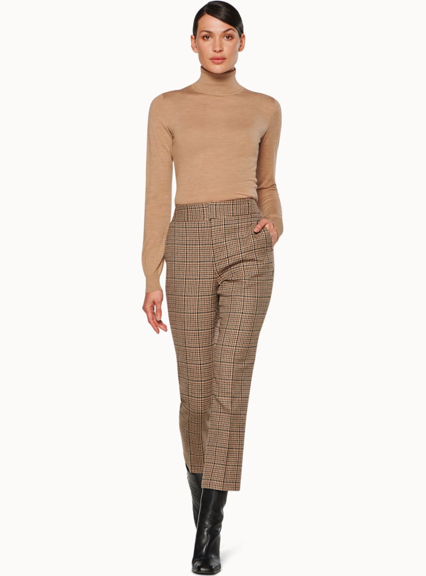 Lane Brown Houndstooth Trousers