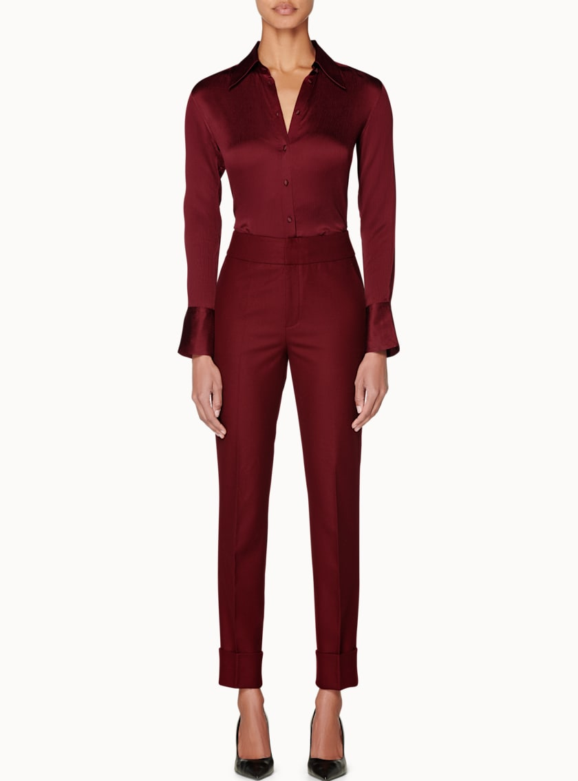 Lane Burgundy  Trousers