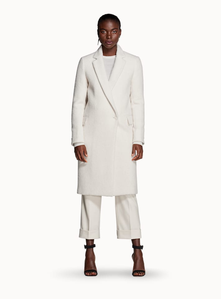 Alia Off White  Overcoat
