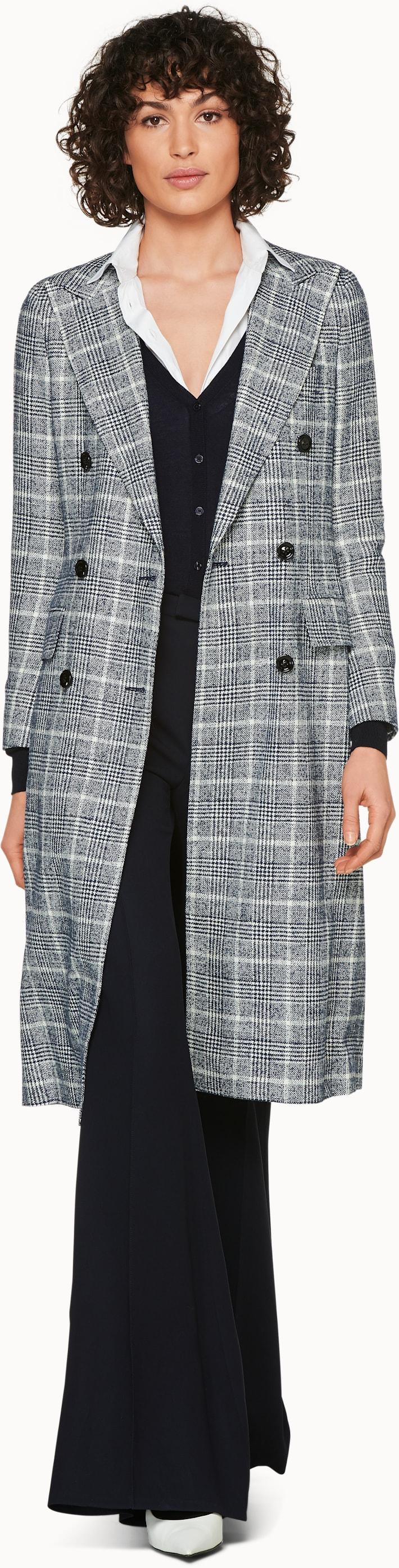 Brian Blue Checked Coat