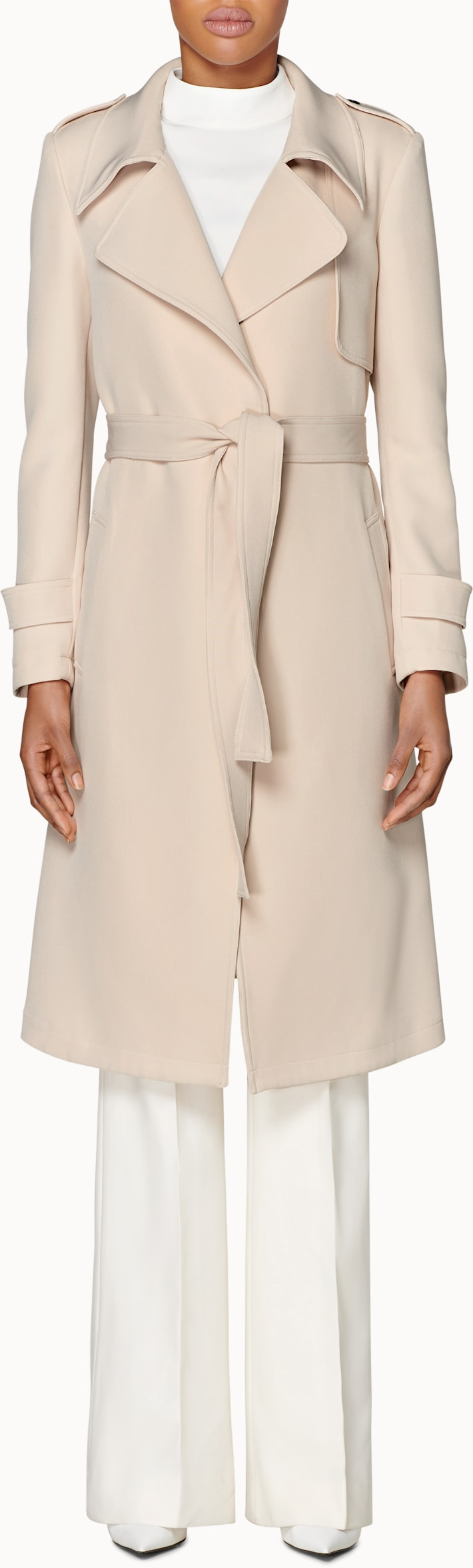 Quin Light Brown  Trench Coat