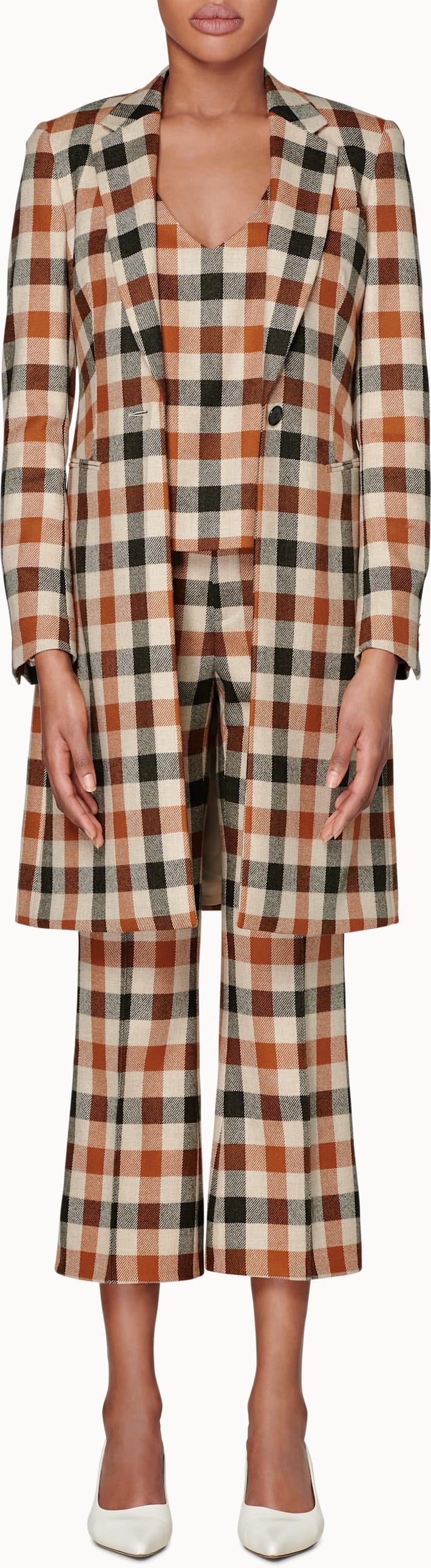 Tenley Orange Checked Coat
