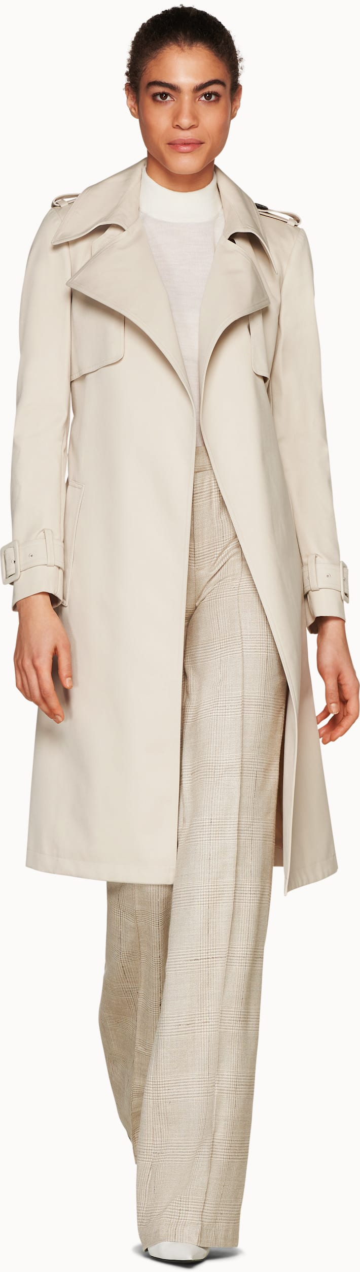 Dwight Beige  Trench Coat