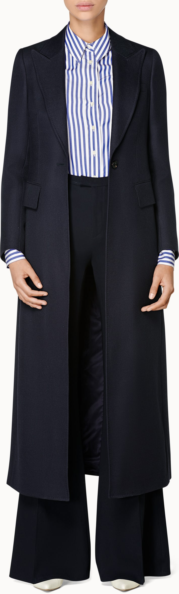 Dane Navy  Overcoat