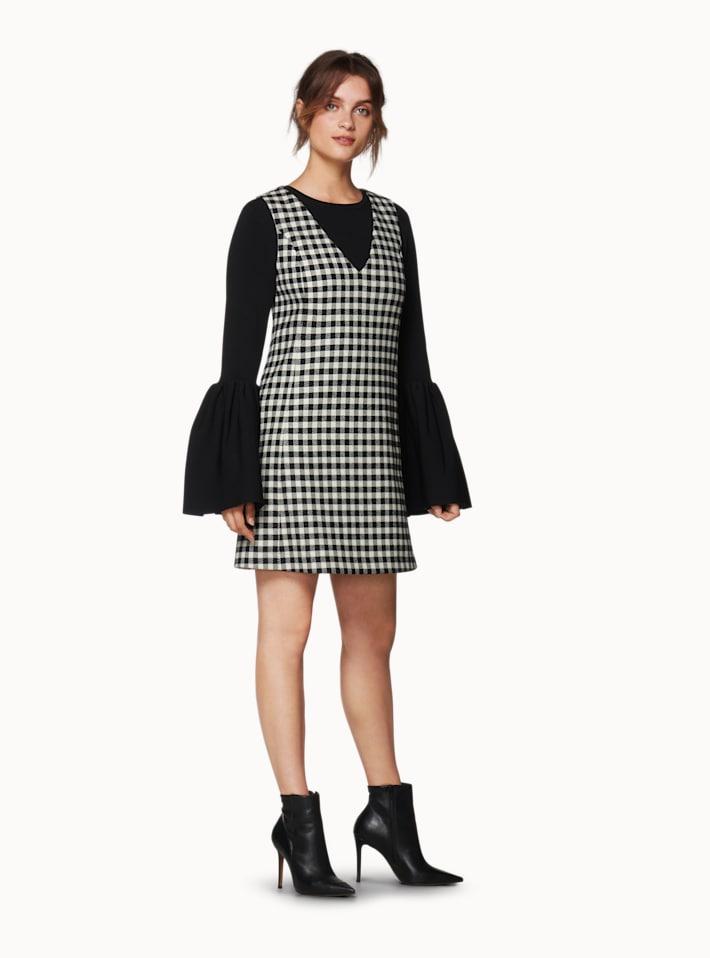 Cedar Black Checked Dress