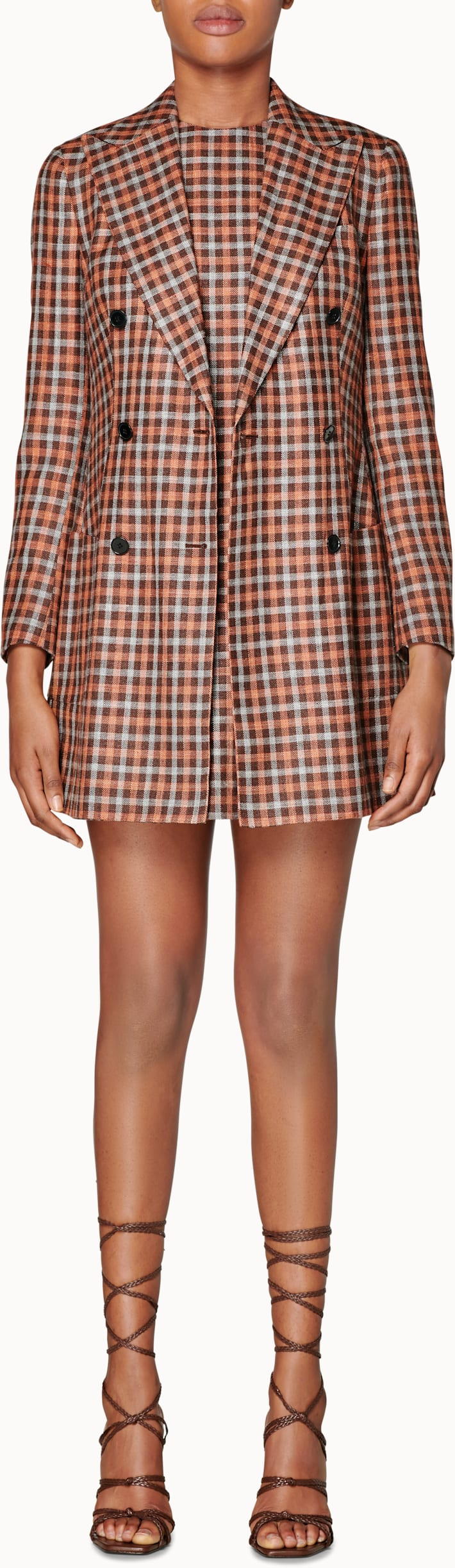 Joss Brown Checked Jacket