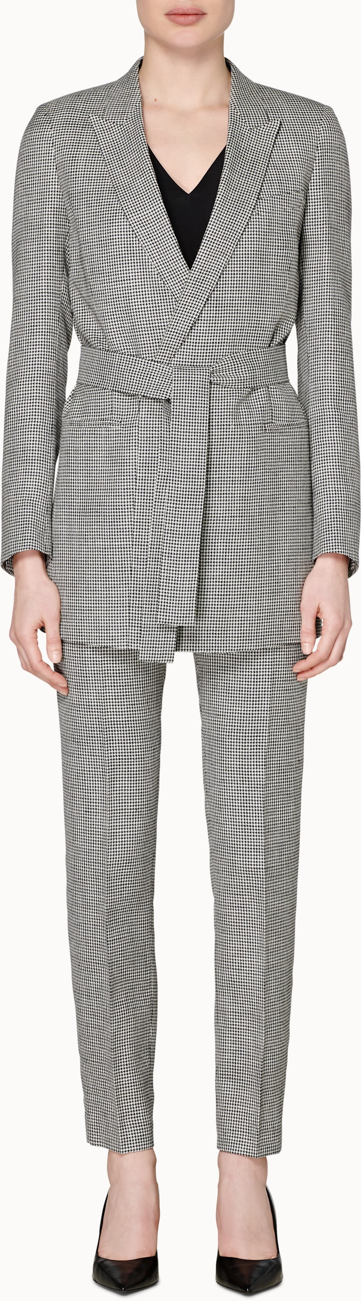 Tory Black & White Houndstooth Suit