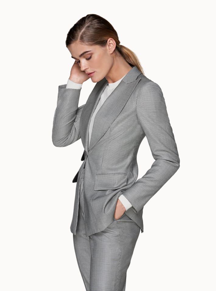 Grey Houndstooth Jacket