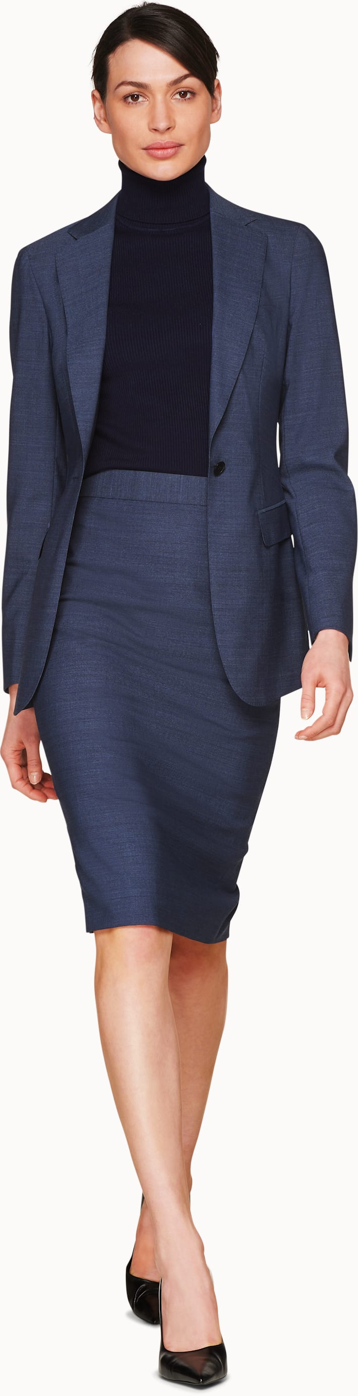 Cameron Blue & Grey Melange Suit