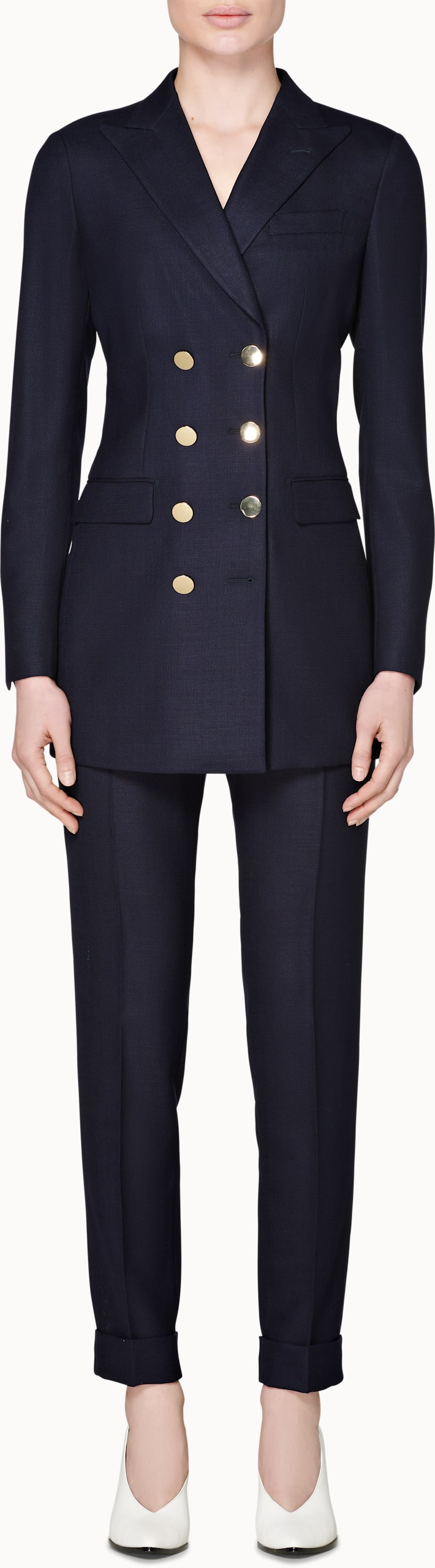 Cameron Navy Golden Button Suit