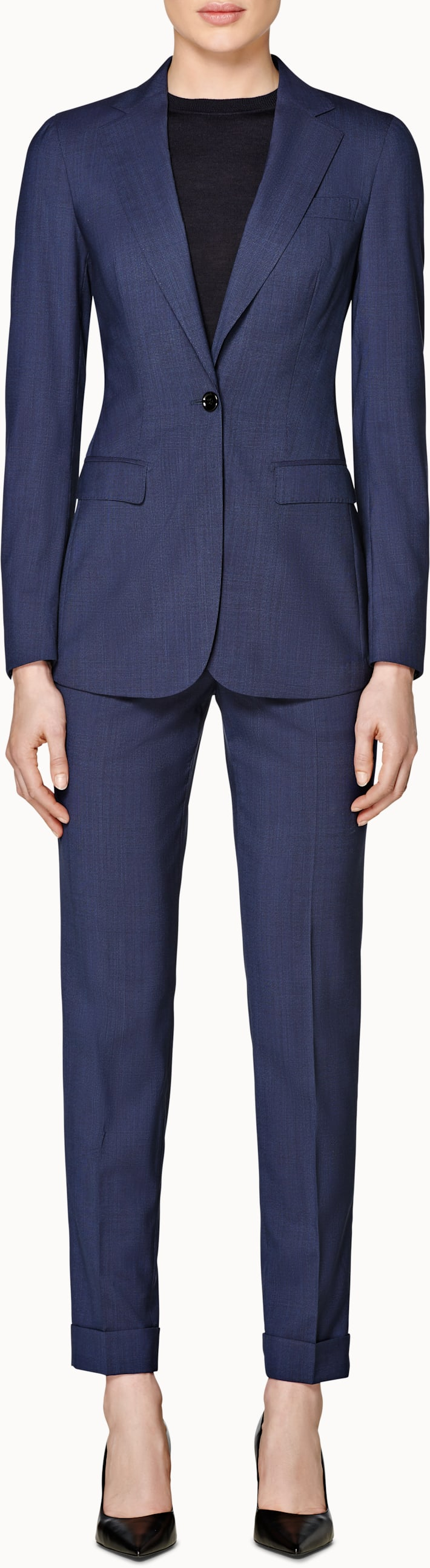 Cameron Navy Checked Suit