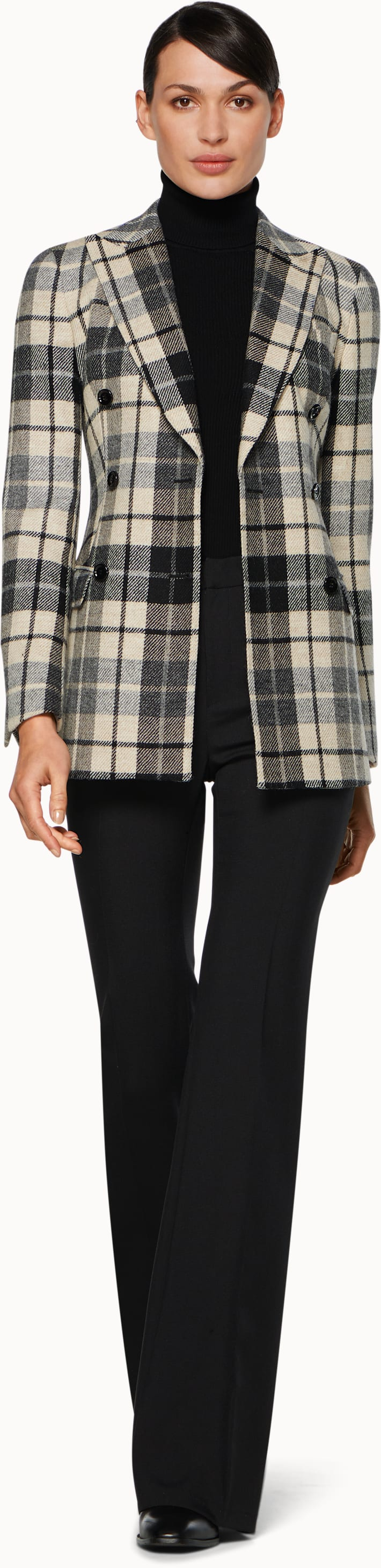Cameron Black & White Plaid Suit