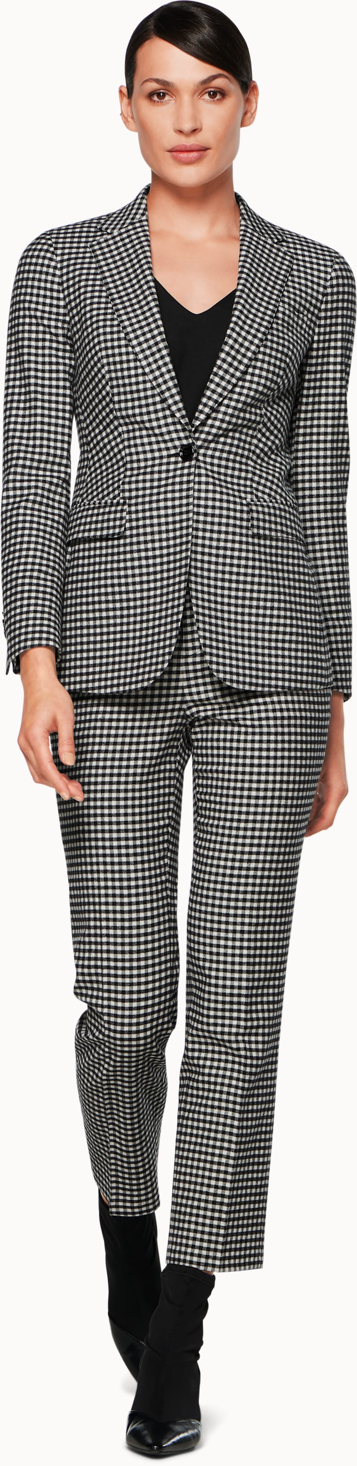 Cameron Black & White Checked Jacket