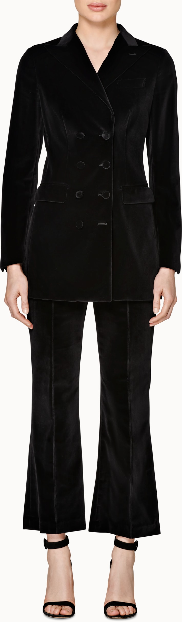 Cameron Black Velvet Suit