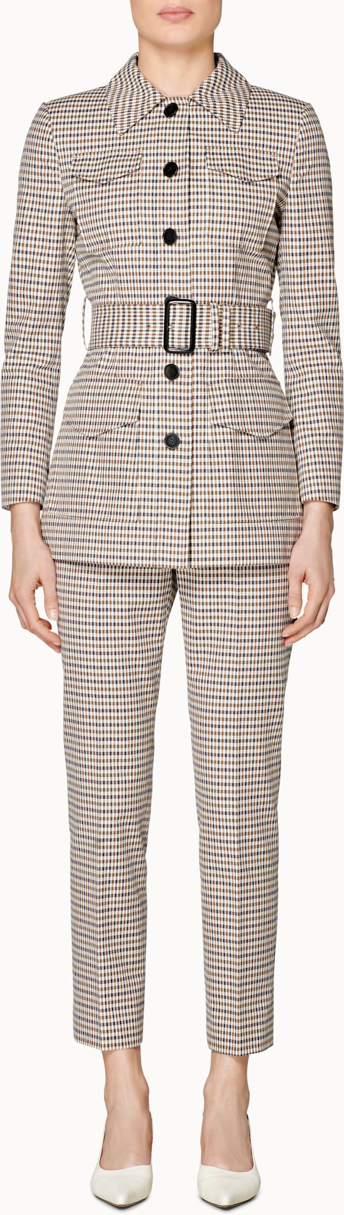 Worker Brown Checked Suit