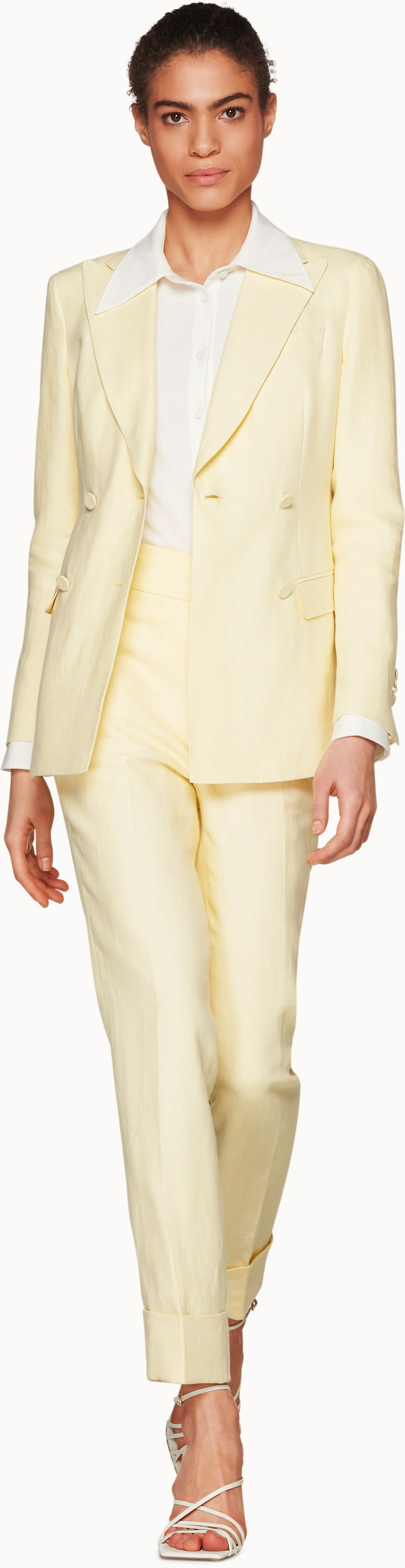 Cameron 4-Button Light Yellow Suit