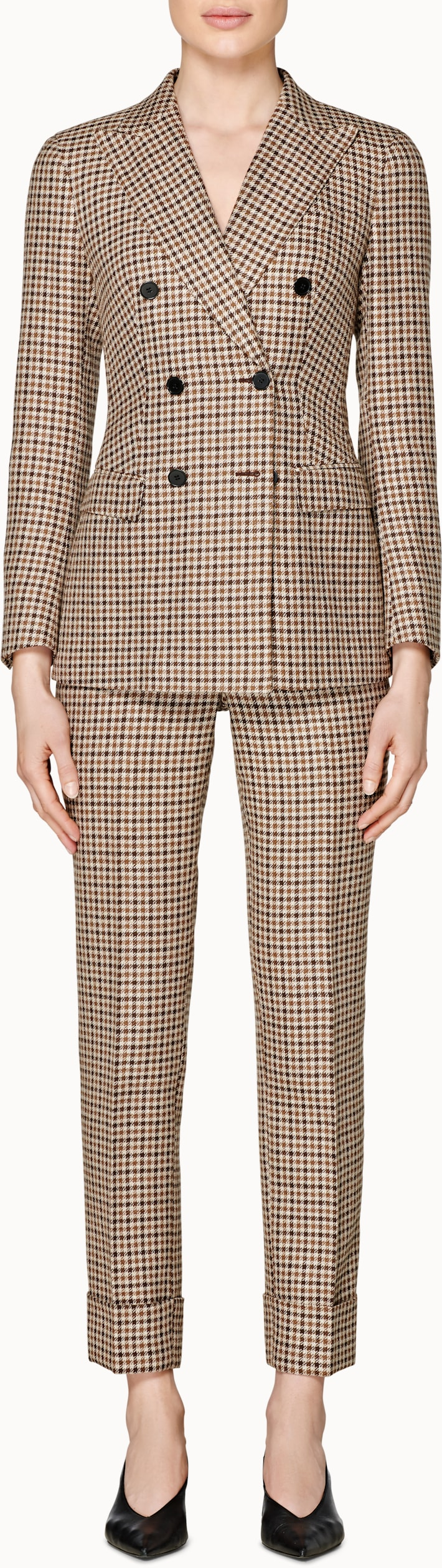 Cameron Brown Checked Suit