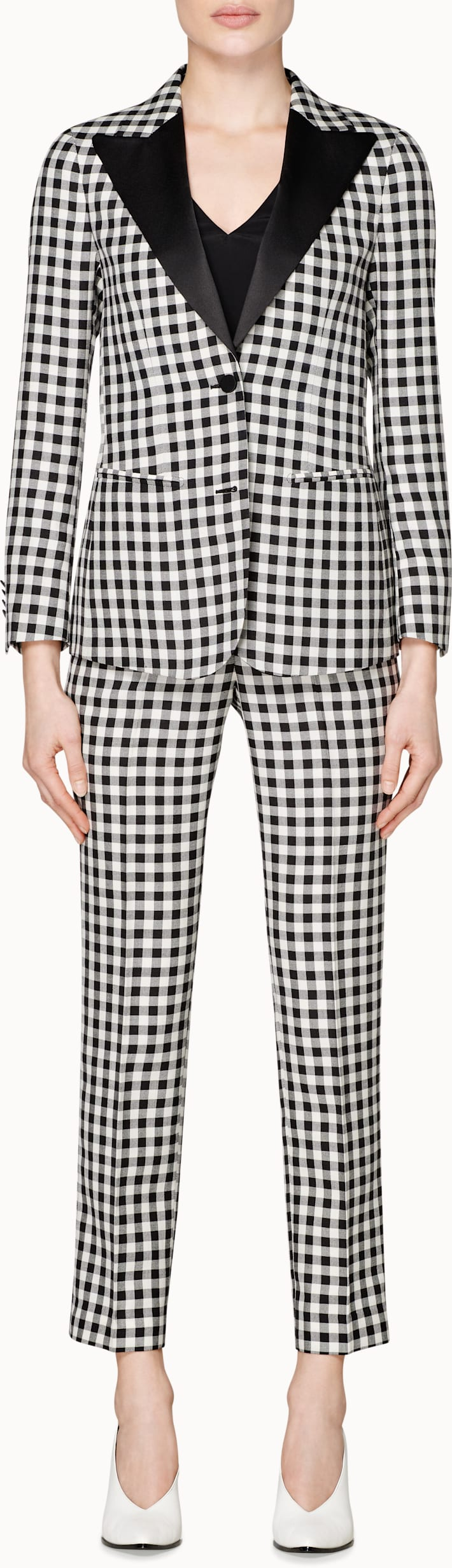 Jay Black & White Checked Suit