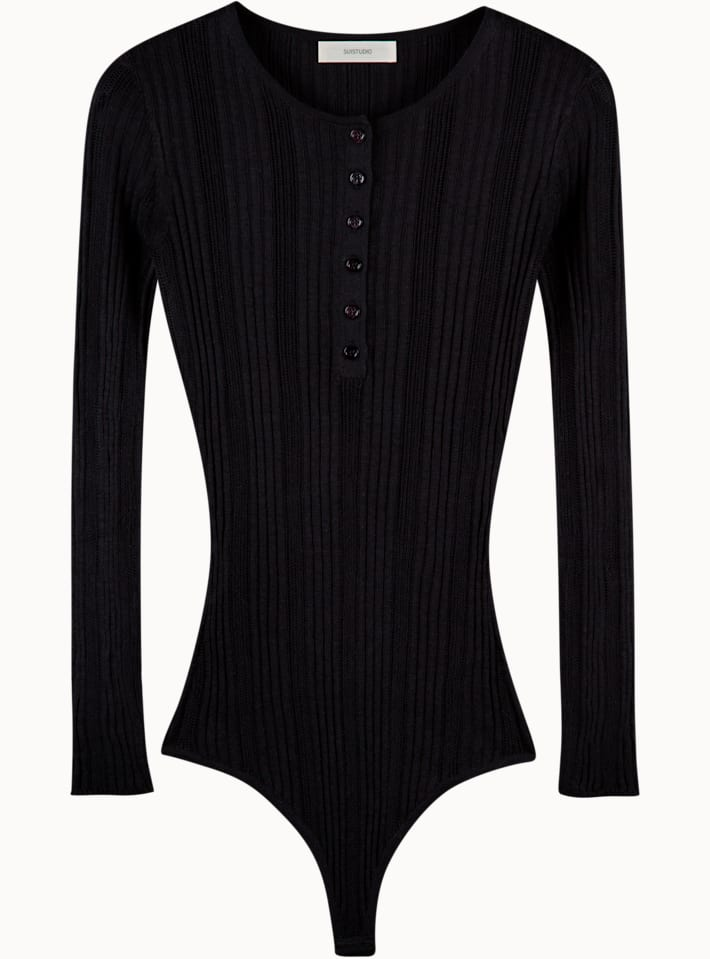 Molly Black Knitted Body