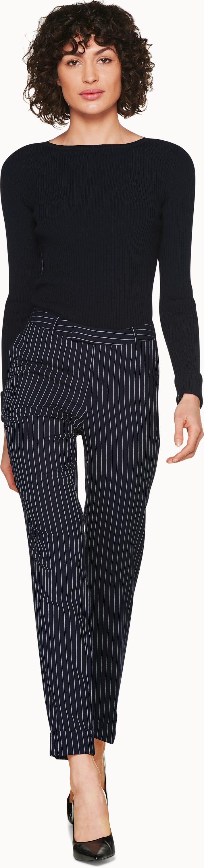 Cael Navy Long-Sleeve Knit