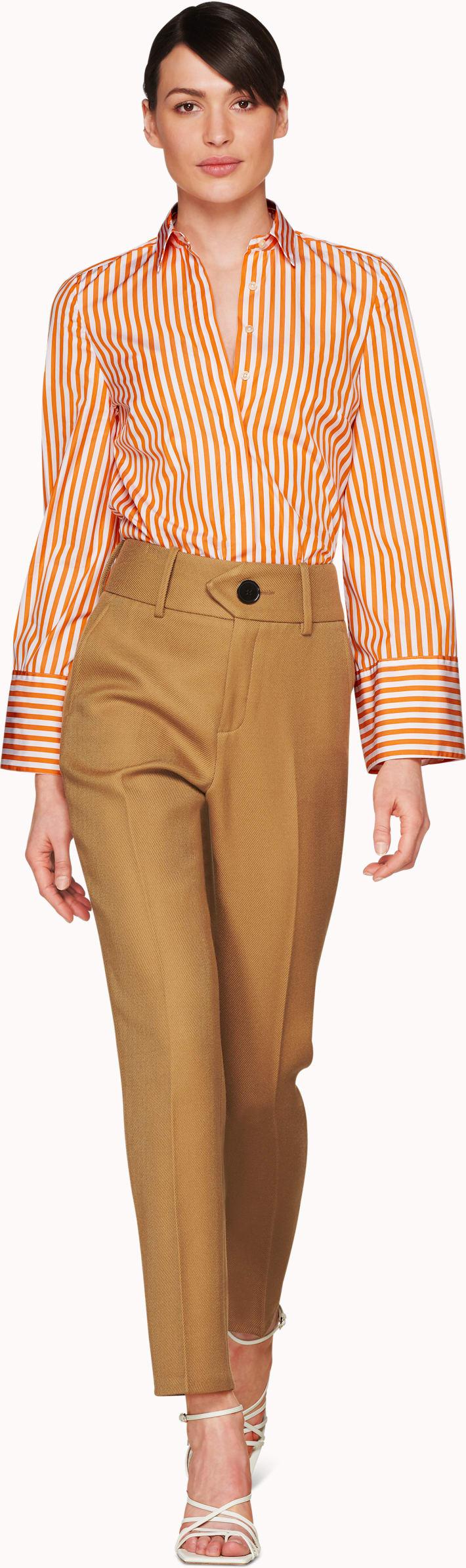 Curtis Carrot Striped Bell Sleeve Shirt